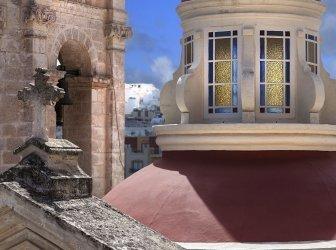 Dach der Kirche