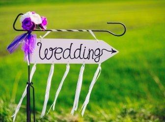 Pfeil mit der Hochzeit