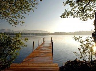 Dock auf dem See