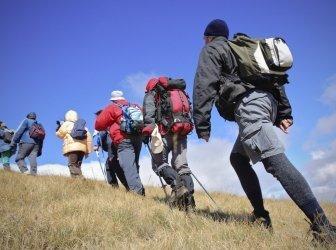 Berginspektion in Richtung des Gipfels Korab