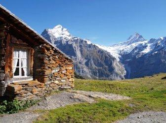 Chalet in Schweizer Alpen