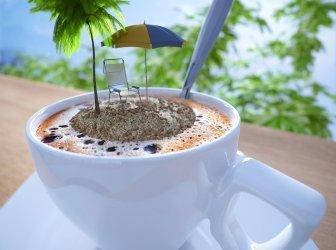Kaffeetasse Ferien Entspannung Konzept-Komposition