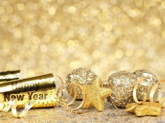 Silvester-party-Hintergrund gold