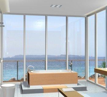 Hotelzimmer mit freistehender Badewanne, Quelle: ©Wilm Ihlenfeld/istockphoto