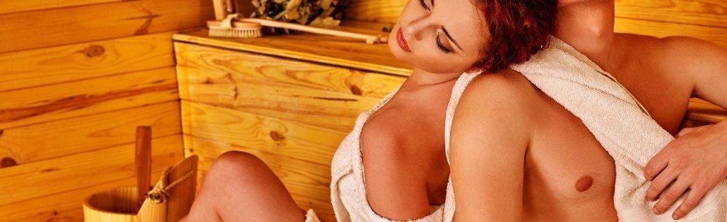 Gruppe von Leuten in einer Sauna, Quelle: targovcom / istockphoto
