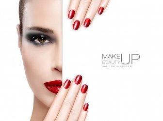 Schönheit, Make-up und Nail Art Konzept