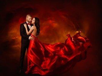 Elegantes Paar Tanzen in Liebe