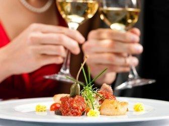 Mittag- oder Abendessen im restaurant