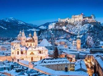 Historische Stadt Salzburg im winter, Bundesland Salzburg, Österreich