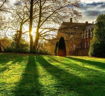 Oldenburger Münsterland, Quelle: winter - Stockfoto