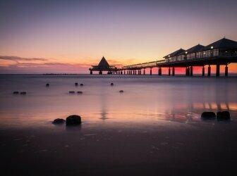 Abendblick auf Strand am Baltic