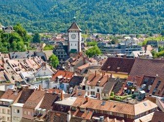 Stadt Freiburg, den Schwarzwald, Deutschland