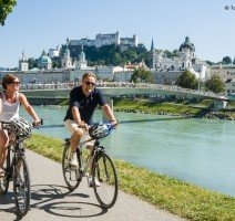 per Rad entlang der Salzach, Quelle: (c) Tourismus Salzburg