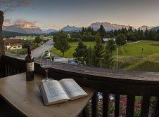 Blick auf das Karwendel und Wettersteingebirge