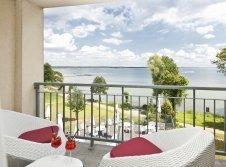 Blick vom Balkon (Orangerie)