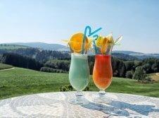 Cocktails auf der Panoramaterasse