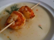 Creme-Suppe mit Garnele