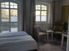 Doppelzimmer Superior mit Balkon zum Garten