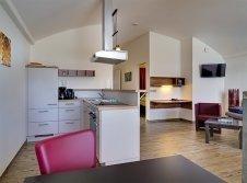 Dünenhaus - innen mit Küche