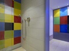 Duschen im Wellnessbereich