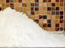 Eis zur Abkühlung nach dem Saunagang