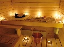 Finnische Sauna im Nebenhaus