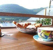 Frühstück auf der Terrasse, Quelle: (c) AKZENT Hotel Restaurant Höhenblick