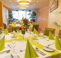 Der Hahnenkorb ein multifunktionaler Raum, dient als Frühstücksraum, Veranstaltungsraum und als Tagungraum, Quelle: (c) Hotel und Landgasthof zum Bockshahn
