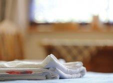 Handtücher auf dem Zimmer