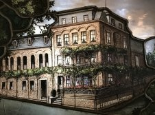 Hotelfront antik