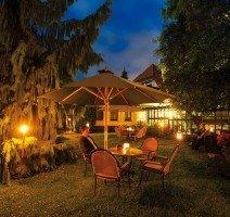 Abends im Hotelgarten des Vtalhotels am Stadtpark, Quelle: (c) Vitalhotel am Stadtpark