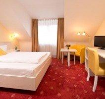 Hotelzimmer, Quelle: (c) ACHAT Comfort Heidelberg/Schwetzingen