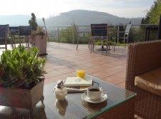 Panoramablick vom Café
