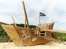 Piratenschiff Außenspielplatz