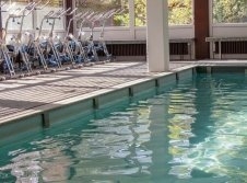 Pool mit Aquabikes