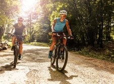 Radfahren im Slavkov-Wald