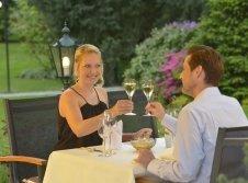 Romantik Dinner auf der Terrasse