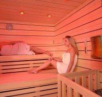 Sauna im Wellnessbereich, Quelle: