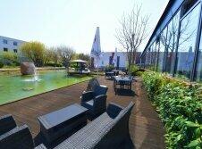 SKYHOTEL Merseburg - Terrasse/Außenbereich