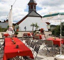 Unsere Terrasse im Hühnerhof, Quelle: (c) Hotel und Landgasthof zum Bockshahn