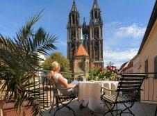 Terrasse Hotel Burgkeller in Meißen