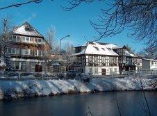 Winter Ansicht AKZENT Hotel Zur Wasserburg