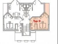 Apartment Typ D Einzelbelegung, Quelle: (c) Glasgarten