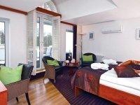 Doppelzimmer Exklusiv mit Balkon zur Park-Seeseite, Quelle: (c) Privathotels Dr. Lohbeck Seehotel Fährhaus