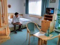 Doppelzimmer mit Badewanne, Quelle: (c) Hotel Stadt Naumburg