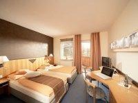 Doppelzimmer mit Seeblick und Balkon, Quelle: (c) Hotel Haus am See