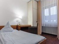 Einzelzimmer mit Etagendusche / WC , Quelle: (c) AKZENT Hotel Böll Essen