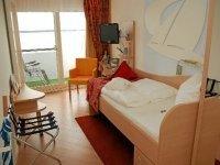 Einzelzimmer zur Seeseite, Quelle: (c) Privathotels Dr. Lohbeck Seehotel Fährhaus