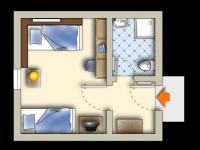 Doppelzimmer Zwergmöwe zur Einzelnutzung, Quelle: (c) Sonnenhotel Feldberg am See