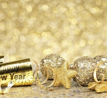 Silvester-party-Hintergrund gold, Quelle: ©jenifoto/istockphoto
